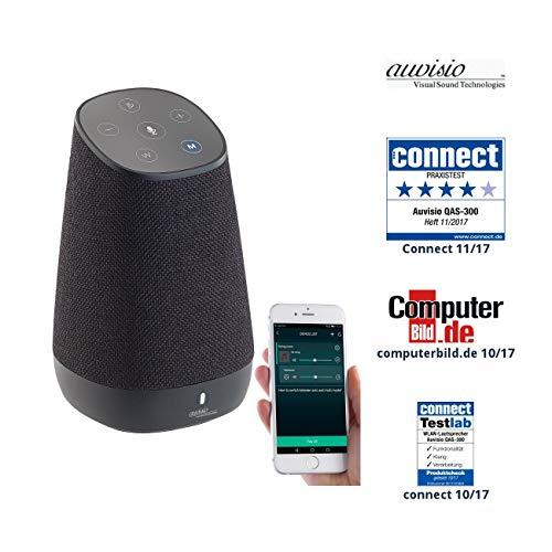 auvisio Lautsprecher, Bluetooth: WLAN-Multiroom-Lautsprecher mit Amazon Alexa und Akku, 30 Watt (Lautsprecher Alexa, Bluetooth)