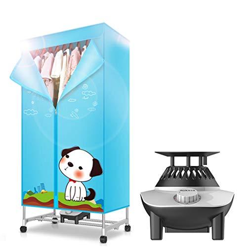 Asciugatrice ad asciugatura rapida a doppio strato 900W multifunzione scaldabagno impermeabile bambino pieghevole intimo macchina sterilizzazione (Colore : Blu)