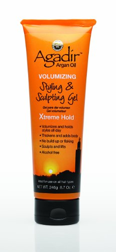 Agadir Argan Oil Volumizing Styling and Sculpting Gel Xtreme Hold (Shine Sculpting Gel)