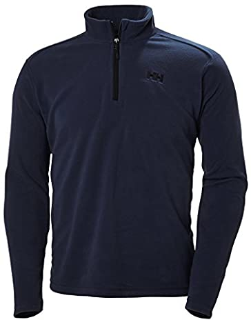 Helly Hansen Daybreaker 1/2 Zip Fleece Polaire Homme, Evening Blue, FR : L (Taille Fabricant : L)