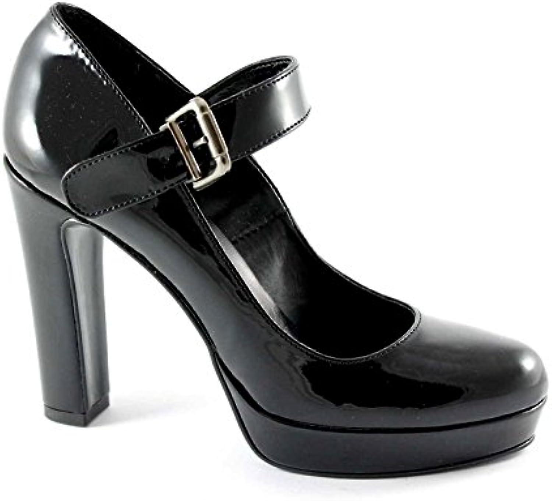 Divine Femme Madness 4018 Chaussures Noires Femme Divine Femme decollet Sangle de TalonB0174V2SESParent 68af4f