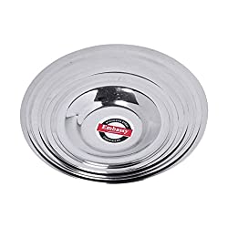 Embassy Stainless Steel Glass/Container Lid, Set of 9, Sizes 1-9 (Diameter 7.3/8.1/8.6/9.1/9.9/10.6/10.9/11.4/12.4 cms)