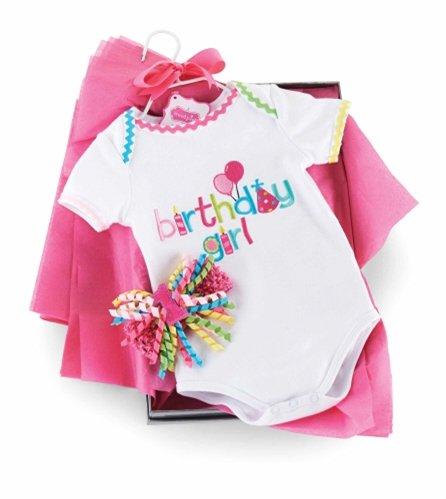 Mud Pie Baby Mädchen- Erster Geburtstag-Baby Body (9-12 Monate, Geburtstag-Body-Stirnband)
