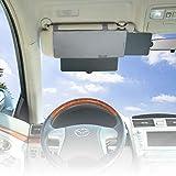 WANPOOL Auto-Sonnenblende, blendfreie Sonnenblende für Vordersitz-Fahrer und Beifahrer, Grau