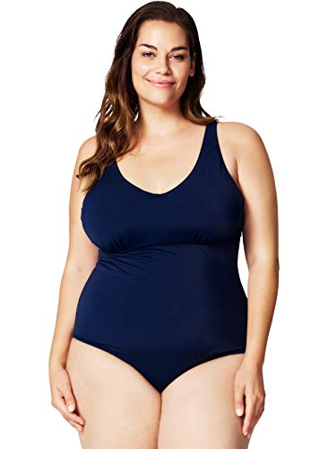 66643e5b7185d Swim by Zizzi Sbasic, W, Swimsuit, bañadores para Mujer, Azul (Night