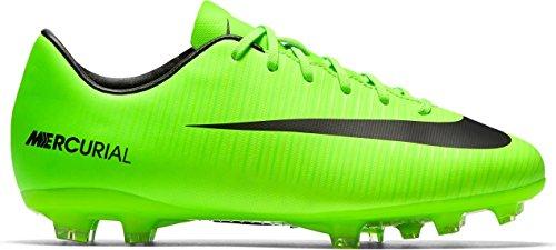 Nike Mercurial Victory Vi Fg, Scarpe da Calcio Unisex – Bambini ELECTRIC GREEN/BLACK
