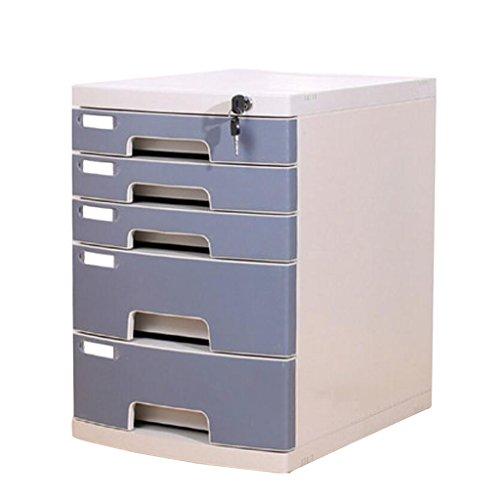 Armadi archivio schedari scatola portaoggetti da ufficio in plastica con cassetto per serratura yhh