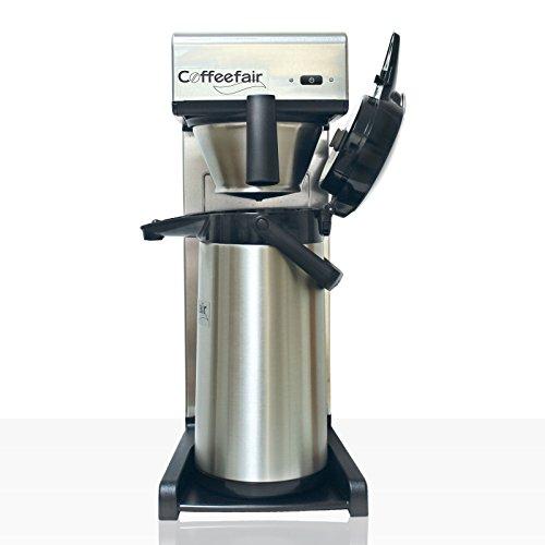 Bonamat TH10 Kaffeemaschine Coffeefair - Neues Design - inkl. Kanne mit Edelstahleinsatz | schnelle Brühzeit für Gastronomie, Kiosk und Büro, inkl. Filter, Kaffelot, Entkalker, Meßbecher
