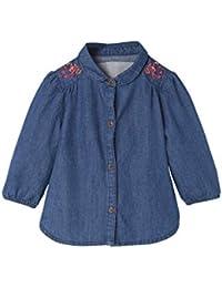 Vertbaudet Jeanshemd für Baby Mädchen, Reine Baumwolle