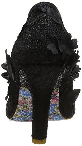 Irregular Choice Mal E Bow, Escarpins Bout Fermé Femme Black (Black Hessian)