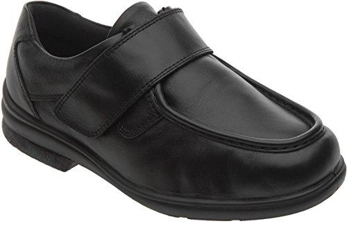 Cosyfeet Mason Schuhe - Besonders geräumig / Extra Roomy (breite Passform M+ Euro / HH+ Width Fitting UK) - Schwarz, Leder - 45 (Width Fuß Schuh Breite)