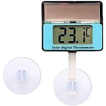 Lantelme 6809Digital Solar Termómetro resistente al agua–con ventosa–Universal para ventanas–Acuario–Terrario.