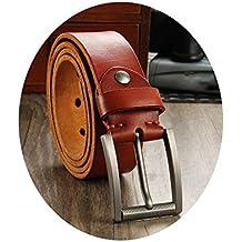 800344ab2a0c86 SBL Ledergürtel, Herren- Und Damen-Gürtelschnalle, Aus Leder Gefertigter,  Einfacher Gürtel