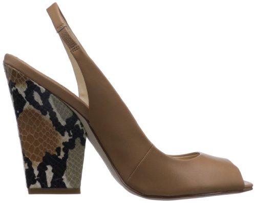 Pompa Calvin Klein Caralee Nappa Geo Snake Camel