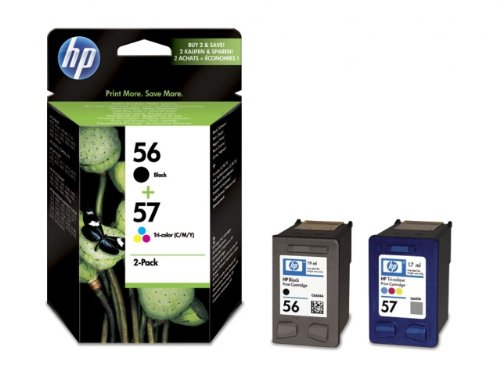 HP 56/57 Combo Pack - Tintenpatrone - 1 x Schwarz, Farbe (cyan, magenta, gelb) (Hp Combo Pack Tinte)