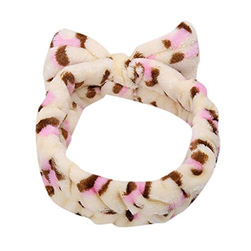 COZOCO 2019 Einfaches und nützliches Stirnband Frauen-Damen-elastisches Haarband-Band-Bogen-Knoten-netter Kopf-reizende Haar-Zusätze B Freie Größe (Halloween-requisiten 2019 Neue)