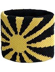 Schweißband Motiv Fahne / Flagge Gelb-Schwarz + gratis Aufkleber, Flaggenfritze®