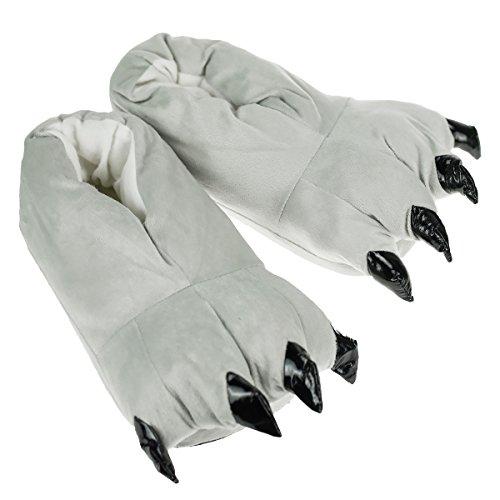 Tuopuda Plüsch Tier Hausschuhe Monster Kralle flauschig Schlappen Pantoffel weich Slipper Bigfoot (Fuß Hausschuhe Monster)
