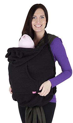 Mija – Tragecover, Universal Bezug für Baby Carrier / Tragetücher / Cape 4022 (Schwarz)