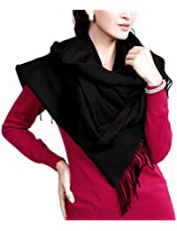 """Novawo Extra Large 78""""x27"""" Cashmere& Wool Blend Shawl Wrap Scarf for Men Women (8 Colors)"""