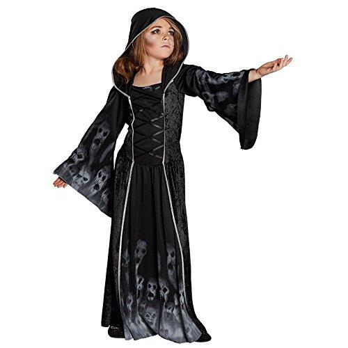 Kinderkostüm Vergessenes Seelenkind Mädchen Gr. 128 - 164 Halloween Geist Gespenst Fasching Karneval 152 (Gruselige Kostüme Für Mädchen)