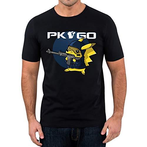 T-Shirt PK:GO Fun Shirt Witziges T-Shirt niedlich (S) (Nerds Niedliche Halloween Für)