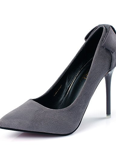 WSS 2016 Chaussures Femme-Mariage / Bureau & Travail / Décontracté-Noir / Rouge / Gris-Talon Aiguille-Talons / Bout Pointu-Talons-PU black-us7.5 / eu38 / uk5.5 / cn38