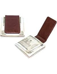 3682d040776043 NISUN Leather Money Clip Front Pocket Brown Men's and Women's Wallet for Use