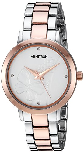 Armitron Women's Quartz Metal and Alloy Dress Watch, Color:Two Tone (Model: 75/5510SVTR)
