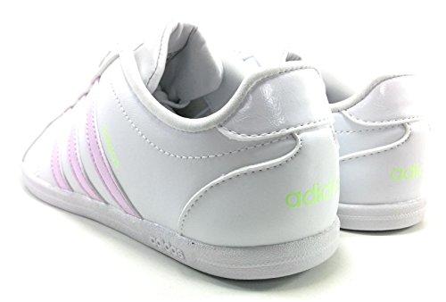 adidas Vs Coneo QT W, Scarpe da Ginnastica Basse Donna Bianco (Footwear White/aero Pink/aero Green)