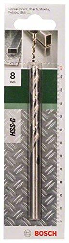 Bosch Metallbohrer HSS-G geschliffen (Ø 8 mm)