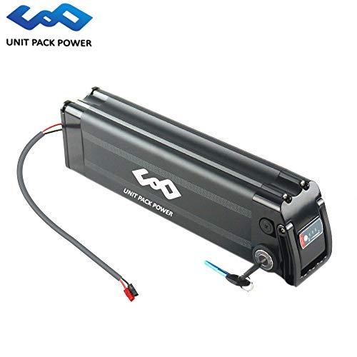 uppcycle Batterie pour vélo électrique, Batterie de Poisson 36V 10AH Sliver + Safe Lock + Chargeur 2A, Convient à Moteur Bafang 36V 500W (Black, 36V 10AH)
