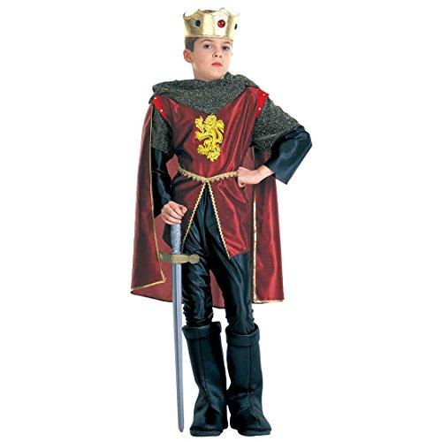 NET TOYS Kinder Prinz Kostüm Königskostüm rot,schwarz S 128 cm 5-7 Jahre Ritterkostüm Königkostüm Prinzenkostüm König Ritter Kinderkostüm (Ein Prinzen Kostüm)