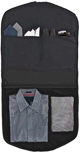 Business Kleidersack für Anzüge | Kleiderschutz-Hülle faltbar & wasserabweisend | optimal für Flugzeug-Reisen nur mit Handgepäck | SkyHanger® DEGELER Anzugtasche & Business-Tasche für Herren (marine-b schwarz