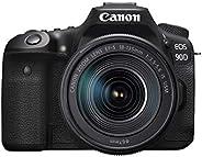 كاميرا كانون 90D رقمية عاكسة مفردة العدسة مع عدسة 18-135 IS يو اس ام - لون أسود