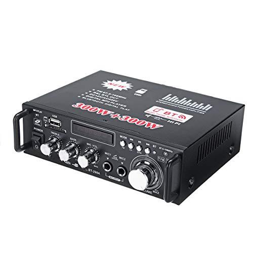 NICOLIE 12V 600W Bluetooth HiFi Stereo Audio Amplificador De Potencia De Control Remoto 220V USB