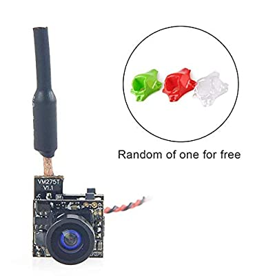 FPV Camera AIO with VTX FPV Transmitter(5.8G 40CH 25mW Transmitter with Circular Polarized Clover Leaf Antenna) for Blade Inductrix FPV Tiny Whoop