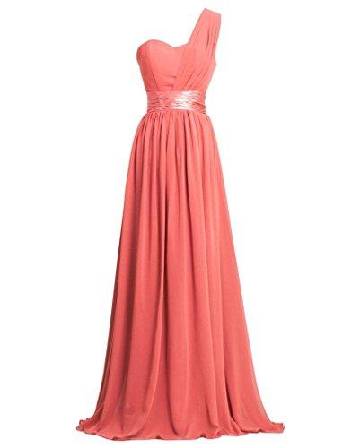 Eudolah Maxi robe asymetrique de soiree en tulle avec ornement de ceinture Femme Orange Rouge