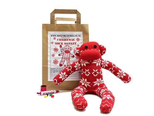 (Christmas Sock Monkey Craft Kit)