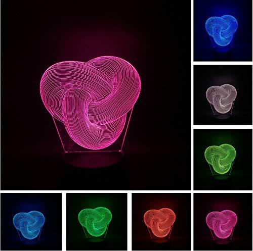 Neuheit Mode Dimmbare Twist Knot Lampara 3D Led Nachtlicht Home Schlafzimmer Party Büro Cafe Bar Decor Schreibtisch Tischlampe Geschenke -