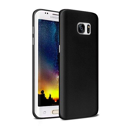 Preisvergleich Produktbild Galasy S7 Edge Schutzhülle Cover,  CAFELE Ultraslim Case TPU Matte Hülle für SAMSUNG S7 Edge (Schwarz)