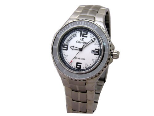 Oskar Emil Gents Cadiz Stainless Steel Watch with Day and Date