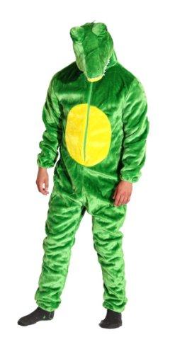 Unterwasser Kostüm Party Motto - Foxxeo Premium Plsch Krokodil Kostm fr Erwachsene Damen und Herren Tierkostm Overall Jumpsuit Grße XXL