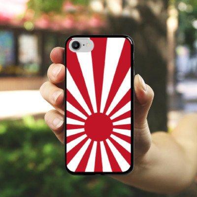 Apple iPhone X Silikon Hülle Case Schutzhülle Japan Marine Japan Flagge Hard Case schwarz