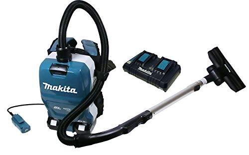 Makita DVC 261 ZX 15 Akku-Rucksackstaubsauger mit 2 Akku 5 Ah und Ladegerät