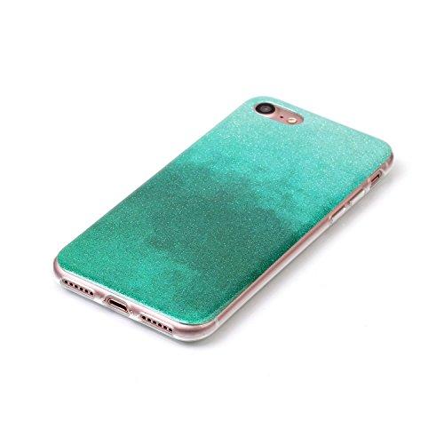 TPU Luxus Glitzer Case Cover iPhone 7 (4.7 Zoll) Hülle mit Kratzfeste Stoßdämpfende Strass Shining Sparkle Schutzhülle Ultra Thin Light Kristall Schutz Matt Schale Bumper für Apple iPhone 7 (4.7 Zoll) 7
