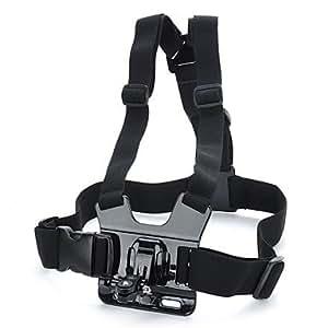TOZ Un modèle thoracique réglable Mont Harnais Caméscope courroie d'épaule pour Sony Action Cam-Noir