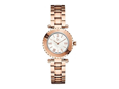 Guess Collection X70020L1S Gold Plated Stainless Steel Case Rose Gold Gold Plated Stainless Steel Synthetic Sapphire Women's Watch