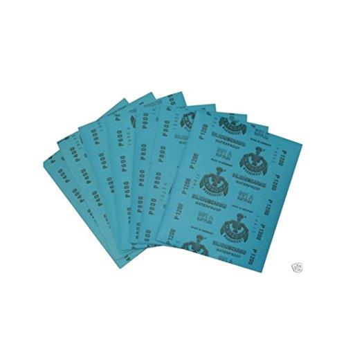 Preisvergleich Produktbild Wasserschleifpapier 10 Blatt P360/ Maße 230 mm x 280 mm / Nass-Schleifpapier / bestes Oberflächenfinish / flexibles Trägerpapier / kurze Einweichzeiten / optimale Anpassung an die Objektkonturen / hohe Abtragsleistung durch gleichmäßige Rauhtiefe / Aufpolieren mit Hochglanzpolituren / kleine Ausschleifungen von Staubeinschüssen