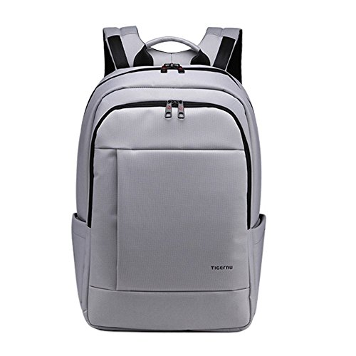 Tigernu unico impermeabile resistente anti-furto Zip'Laptop zaino scuola Business Borse-Silve